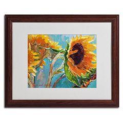 Trademark Fine Art Sunflower 11 Wood Framed Wall Art