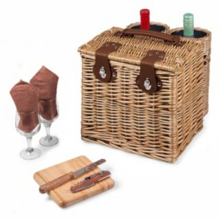 Picnic Time Adeline Collection Vino Picnic Basket