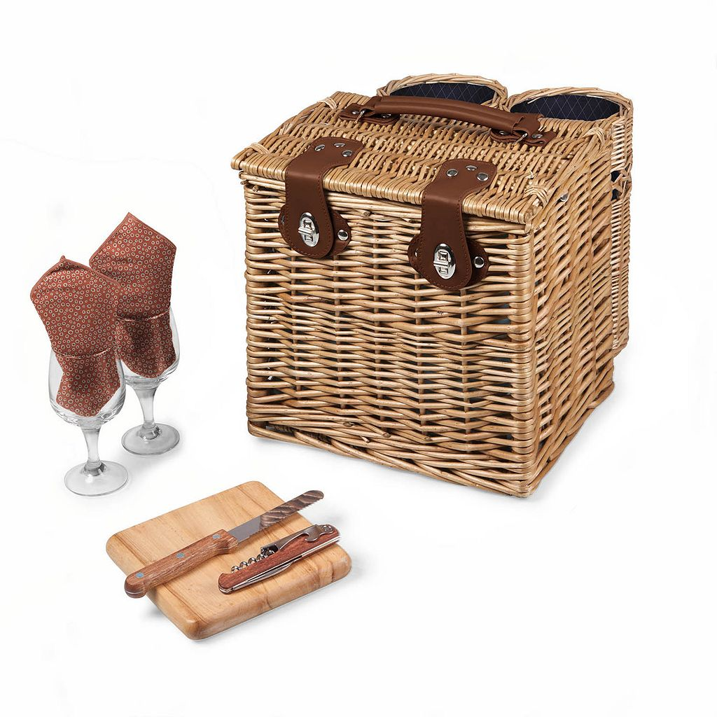 Picnic Time Adeline Collection Vino Picnic Basket