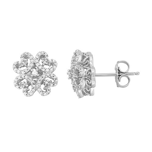 Simply Vera Vera Wang 1/4 Carat T.W. Diamond Sterling Silver Flower Stud Earrings
