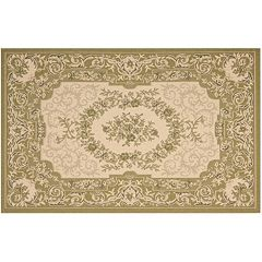 Safavieh Courtyard Aubusson Framed Floral Indoor Outdoor Rug