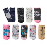 Girls Pink Cookie 9-pk. Glitter Print Low-Cut Socks