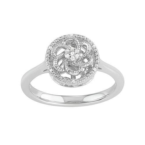 Simply Vera Vera Wang Diamond Accent Flower Swirl Ring