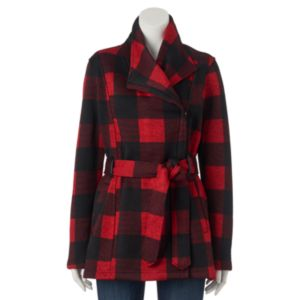 Juniors' Madden Girl Side-Zip Plaid Jacket