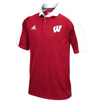 Men's adidas Wisconsin Badgers Sideline Coaches Polo