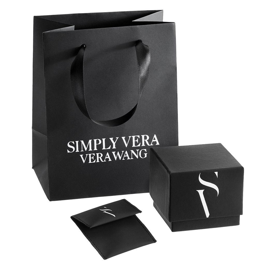 Simply Vera Vera Wang Sterling Silver 1/4 Carat T.W. Diamond Flower Pendant Necklace