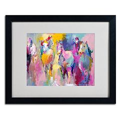 Trademark Fine Art Wild Horse Black Framed Wall Art