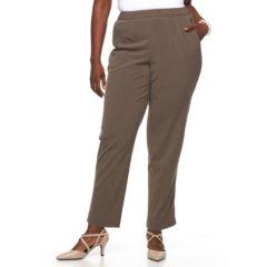 Plus Size Croft & Barrow® Pull-On Dress Pants