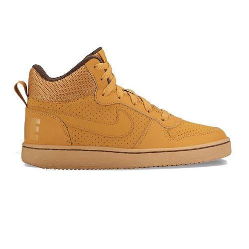 ecb7202111 Nike Court Borough Mid Grade School Boys' Basketball Shoes
