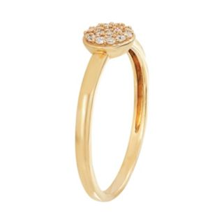 10k Gold 1/10 Carat T.W. Diamond Halo Ring