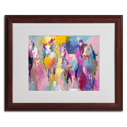 Trademark Fine Art Wild Horse Wood Framed Wall Art