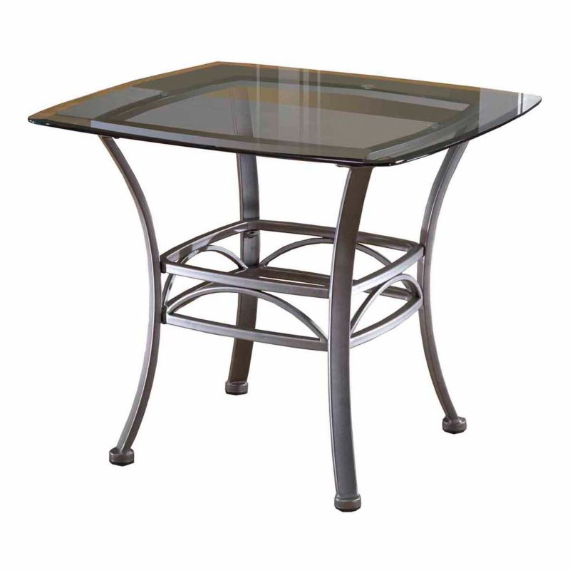 Hillsdale Furniture Abbington Square End Table, Grey