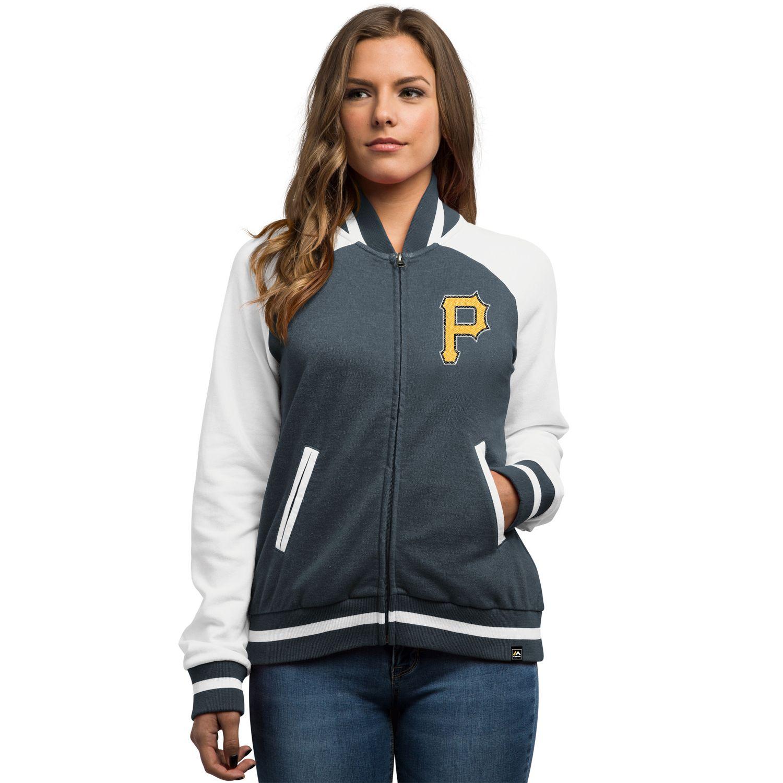 Womens Majestic Pittsburgh Pirates Athletic Jacket