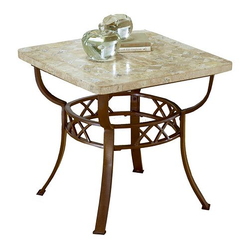 Hillsdale Furniture Brookside Fossil End Table