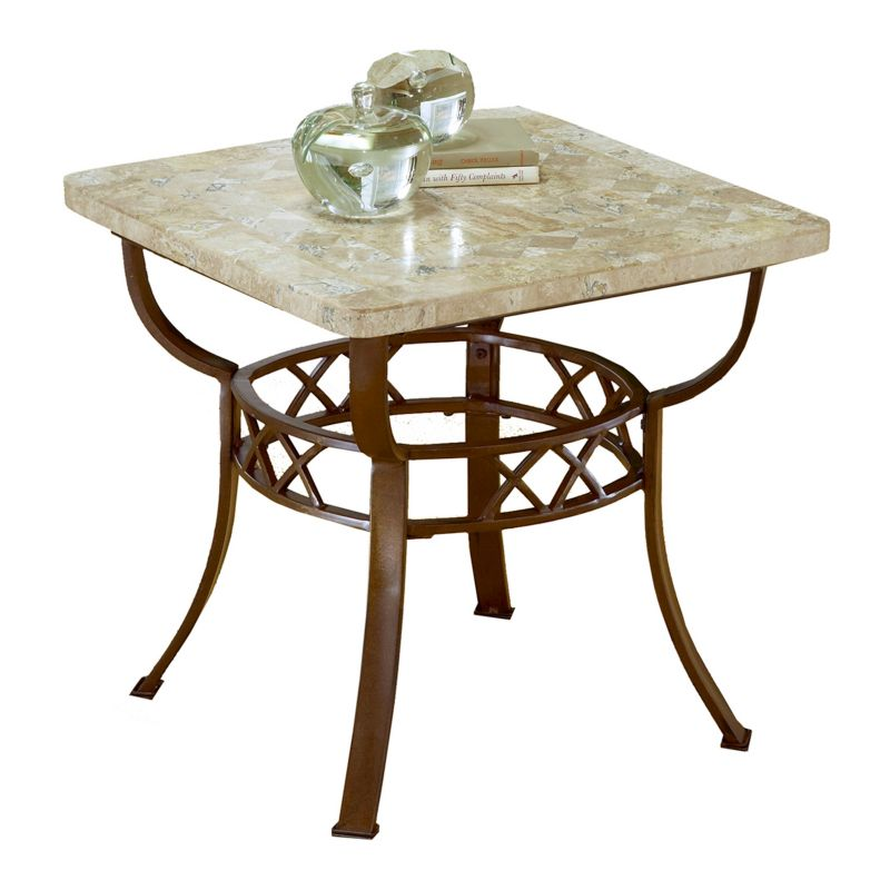 Hillsdale Furniture Brookside Fossil End Table, Brown
