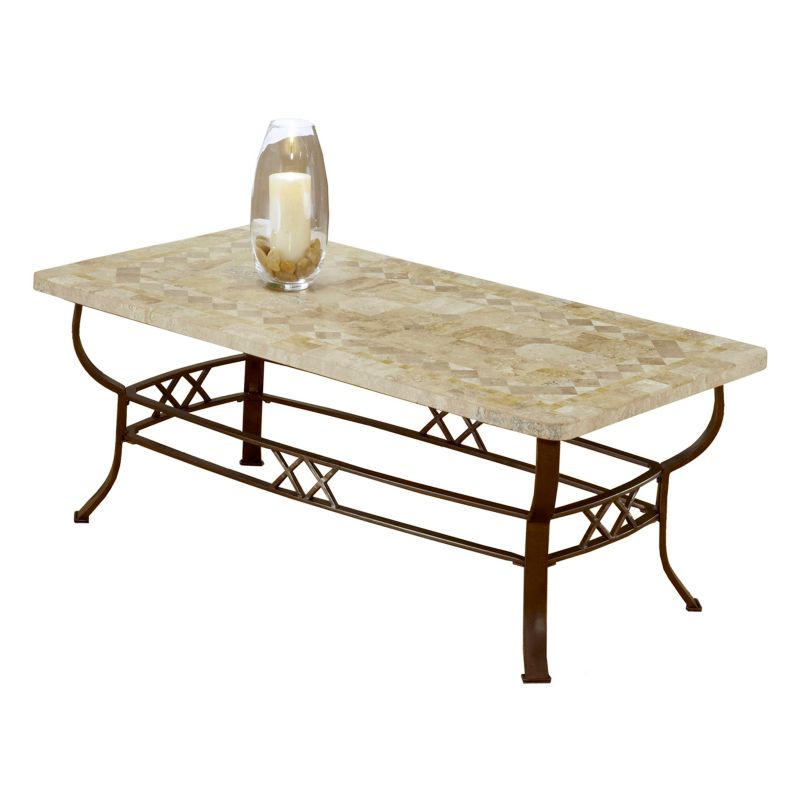 Hillsdale Furniture Brookside Fossil Coffee Table, Brown
