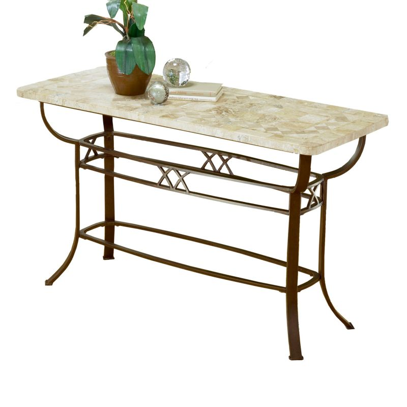 Hillsdale Furniture Brookside Fossil Sofa Table, Brown
