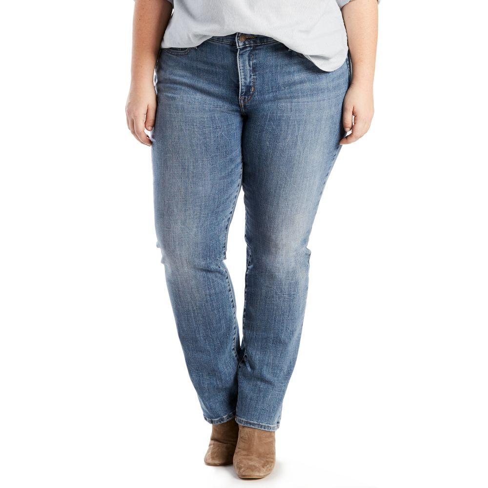size levi's 314 shaping straight-leg jeans