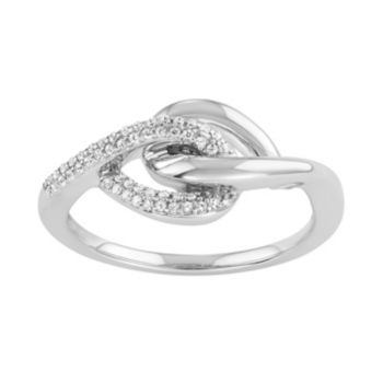 Sterling Silver 1/6 Carat T.W. Diamond Intertwined Ring