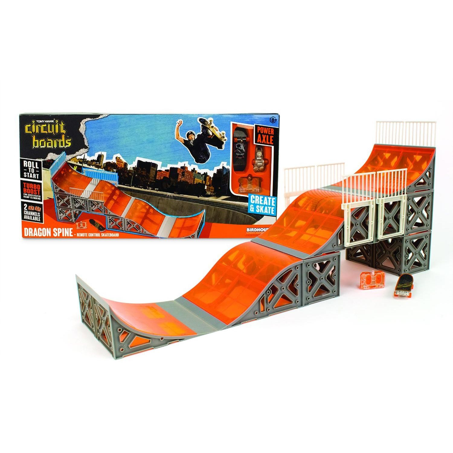 hexbug tony hawk circuit boards dragon spine ramp set rh kohls com