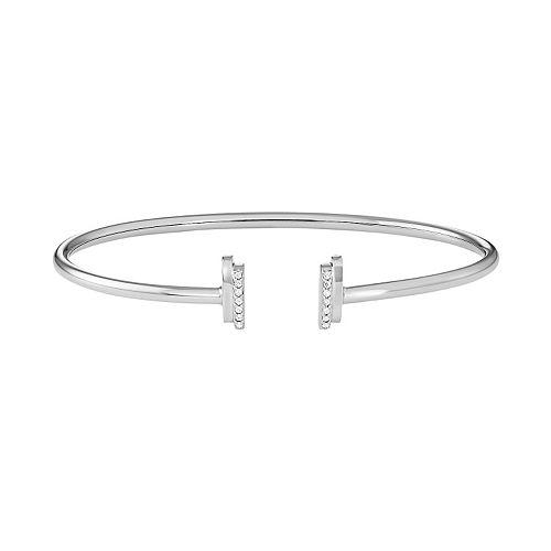 Sterling Silver 1/10 Carat T.W. Diamond Cuff Bracelet