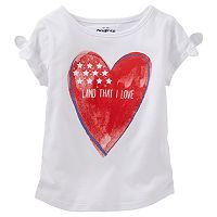Toddler Girl OshKosh B'gosh® Patriotic Glitter Tee