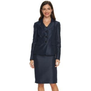 Women's Le Suit Shimmer Suit Jacket & Pencil Skirt Set