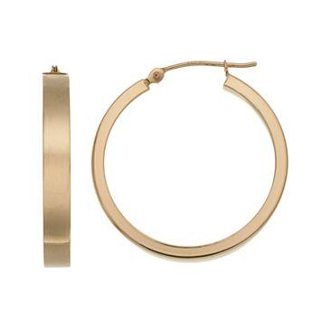 Forever 14K Square Hoop Earrings