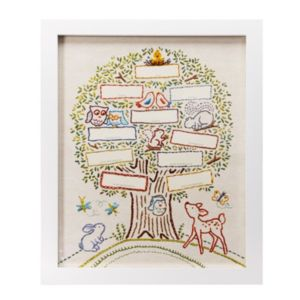 C.R. Gibson Whimsical Faux-Stitched Family Tree Frame