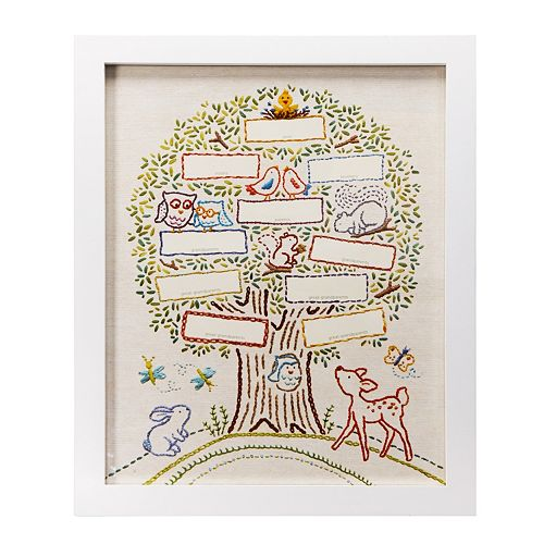 Cr Gibson Whimsical Faux Stitched Family Tree Frame