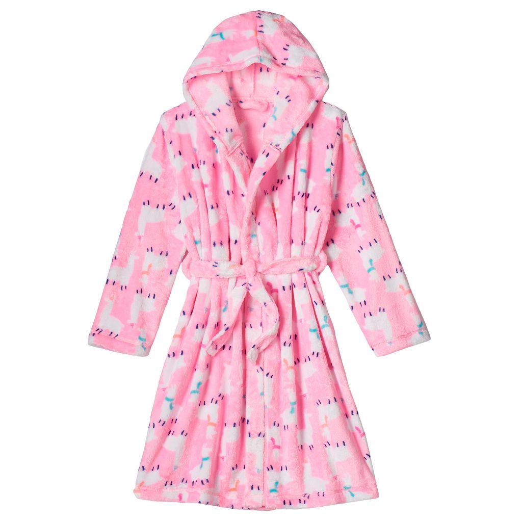 Girls 4-16 SO® Print Cozy Sleep Bath Robe