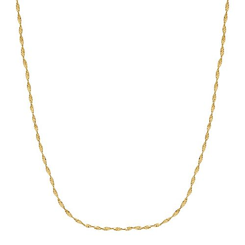 Everlasting Gold 14k Gold Singapore Chain Necklace - 18 in.