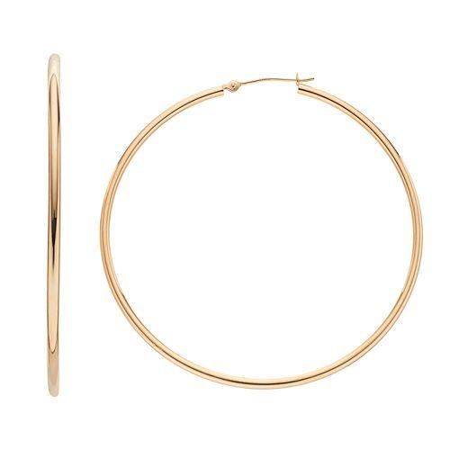 Forever 14K Hoop Earrings