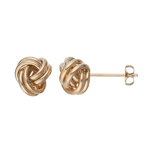 Forever 14K Love Knot Stud Earrings