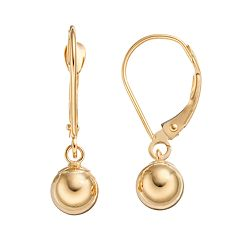 Forever 14K Ball Drop Earrings