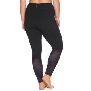 Plus Size Gaiam Om Mesh Yoga Leggings