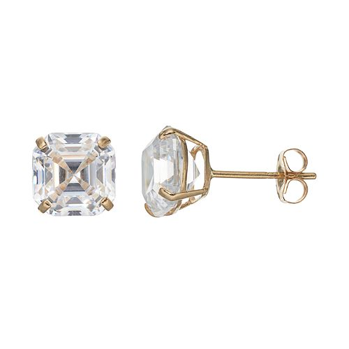 Forever 14K Cubic Zirconia Stud Earrings