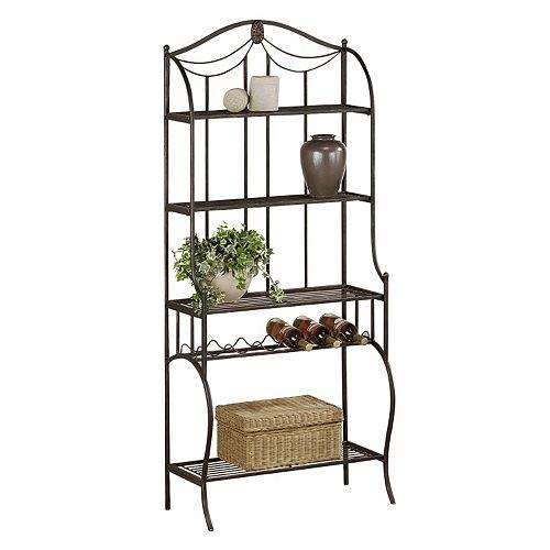 Hillsdale Furniture Camelot Storage Baker's Rack