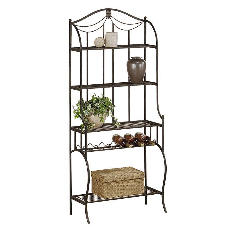 Hillsdale Furniture Camelot Storage Baker's Rack, Black