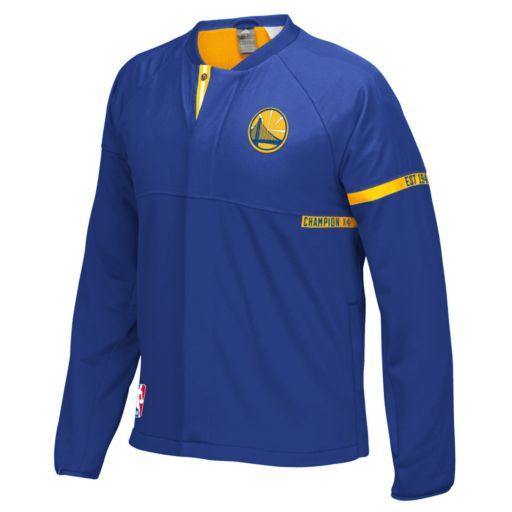 Men's adidas Golden State Warriors On-Court Henley Jacket