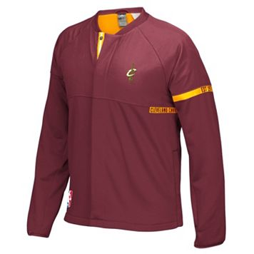 Men's adidas Cleveland Cavaliers On-Court Henley Jacket
