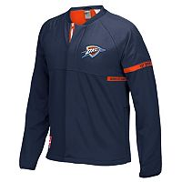 Men's adidas Oklahoma City Thunder On-Court Henley Jacket
