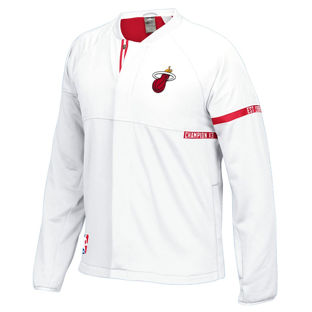 Men's adidas Miami Heat On-Court Henley Jacket