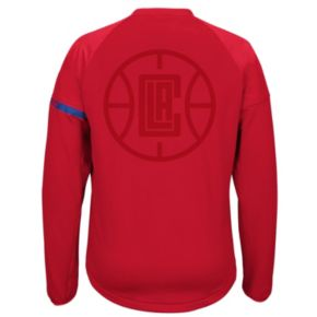 Men's adidas Los Angeles Clippers On-Court Henley Jacket