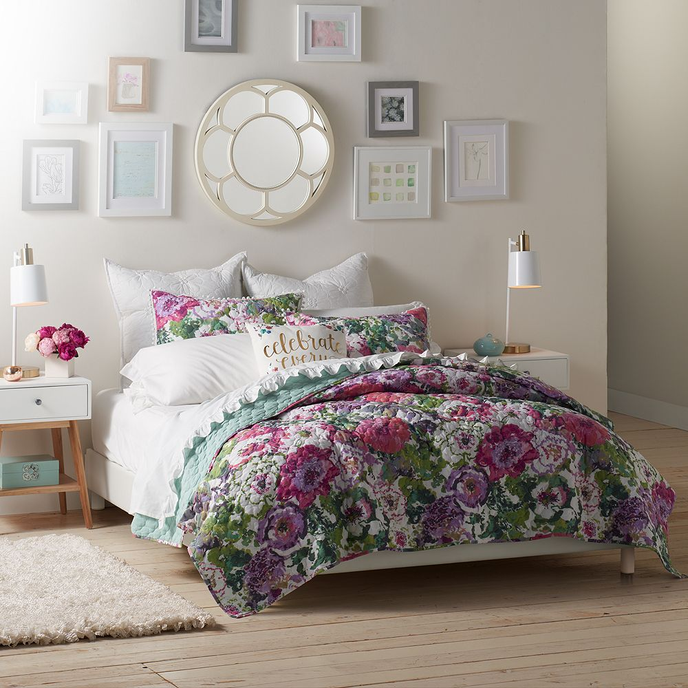 Lauren Conrad Watercolor Garden Quilt Set