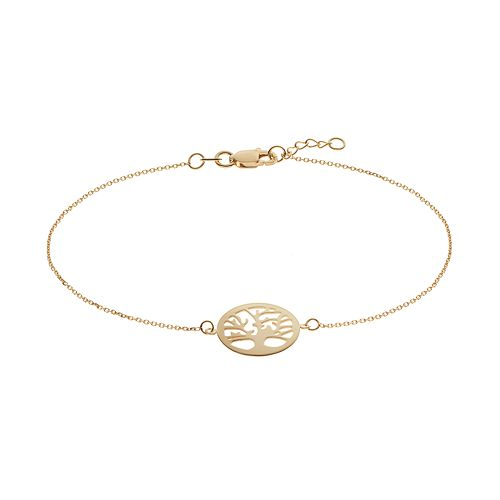 14k Gold Tree of Life Bracelet