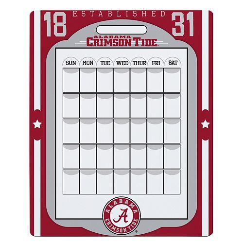 Alabama Crimson Tide Dry Erase Calendar