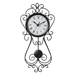 Chaney 16.5' Wrought Iron Pendulum Wall Clock