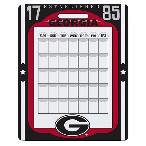 Georgia Bulldogs Dry Erase Calendar