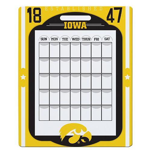 Iowa Hawkeyes Dry Erase Calendar